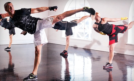 Four or Eight Les Mills BODYCOMBAT Fitness Classes at American Fighter MMA Academy (Up to 59% Off)
