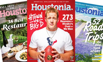 One- or Two-Year Subscription to Houstonia Magazine (Up to 50% Off)