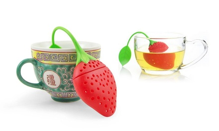 Strawberry-Shaped Tea Infuser; 1, 4, or 6 from $8.99-$19.99