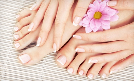 One or Two Mani-Pedis at Vanish Laser and Beauty Central Inc. (Up to 59% Off)