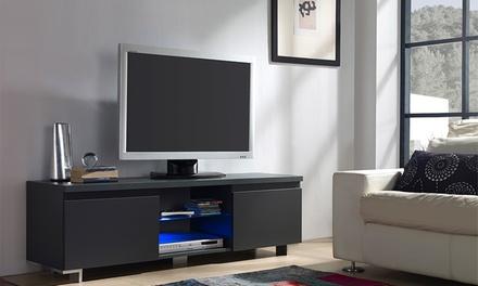 Móvel de televisão com luzes LED e uma ou duas portas desde 69,90 € com envio gratuito
