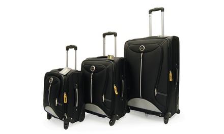 Lucas Tek 3-Piece Spinner Luggage Set