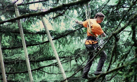 $60 for an Aerial Adventure Course Package with Ziplining at Tree to Tree Adventure Park ($90 Value)