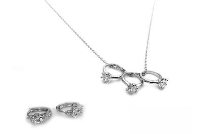 Conjunto de joias com Swarovski Elements disponível em três modelos desde 8,99€