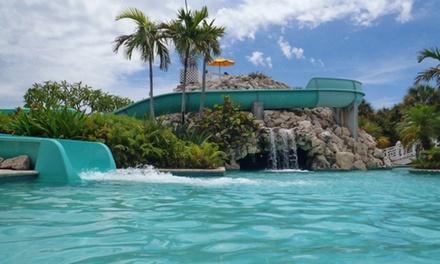 groupon daily deal - ✈ Flamingo Bay Hotel and Marina Stay with Airfare from Vacation Express. Price per Person Based on Double Occupancy.