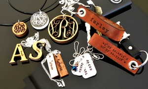 Personalized Necklace Or Leather Keychain From Lilydeal.com (up To 54% Off)