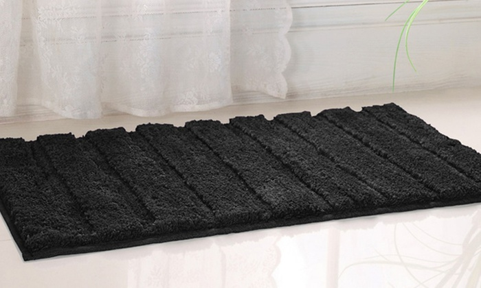 westbrook extra large 20 x 32 high pile microfiber bath rug groupon. Black Bedroom Furniture Sets. Home Design Ideas