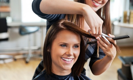 Haircut with Optional Full or Partial Highlights at Sanctuary Salon & Spa (Up to 67% Off)
