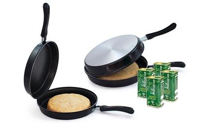 Frigideira para tortilha por 24,90€ com opção de 4 latas de azeite por 34,90€