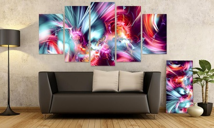 1-Panel or 5-Panel Gallery-Wrapped Fractal Print on Canvas from $49.99–$89.99
