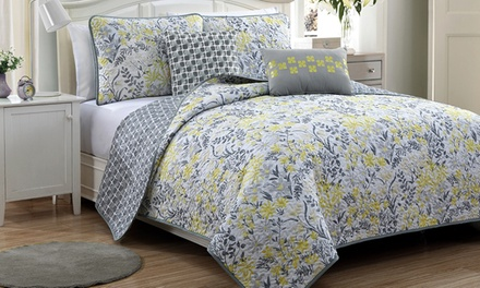 Katerina 5-Piece Reversible Quilt Set