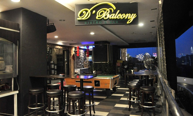 D 39 balcony klang valley kl groupon for Balcony restaurant group