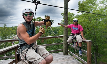 Zipline Adventure Tour for One, Two, or Four from Indian Point Zipline (Up to 45%Off). Six Options Available.