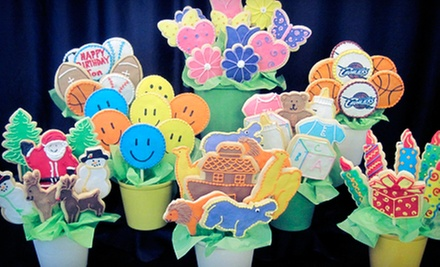 7- or 12-Piece Cookie Bouquet, or $10 for $20 Worth of Baked Goods at Reeves Cake Shop