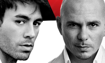 Enrique Iglesias & Pitbull with J Balvin at The Palace of Auburn Hills on Sunday, September 21 (Up to 51% Off)