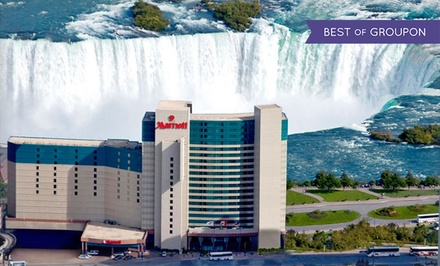 groupon daily deal - Stay with Breakfast, Wine Tours, WiFi, and Dining and Spa Credits at Marriott Niagara Falls in Ontario. Dates into May.