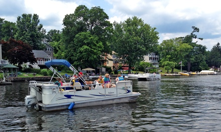 All-Day Pontoon-Boat Rental on Greenwood Lake for Up to Eight at South Shore Marina (Up to 51% Off)