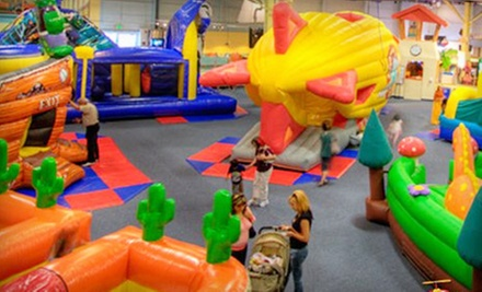Bounce Pass and 80 Game Tokens or Two Bounce Passes with 40 Tokens, a Pizza, and Drinks at Bounce-a-Rama (Up to 53% Off)