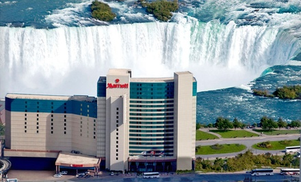 Stay with Dining Credits, Wine Tasting, and In-Room Internet at Marriott Niagara Falls in Ontario. Dates into May.