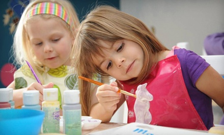 Pottery Painting for One, Two, or Four at Create Hands On (63% Off)