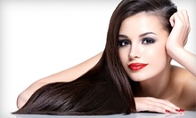 Brazilian Blowout with Option for Haircut or Haircut and Highlights at Delaney Salon Suites (Up to 72% Off)