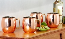 $38.99 for a Set of Two 24-Ounce Solid Copper Moscow Mule Mugs ($66 List Price). Two Styles Available. Free Shipping.