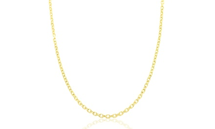 14K Solid Gold Diamond-Cut Cable Chain Necklace; Multiple Lengths from $79.99–$119.99