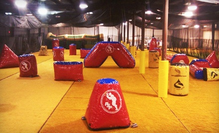 One Hour of Bazooka Ball for Six or Eight with Options for Party-Room Rentals at Brew City Paintball (Up to 52% Off)