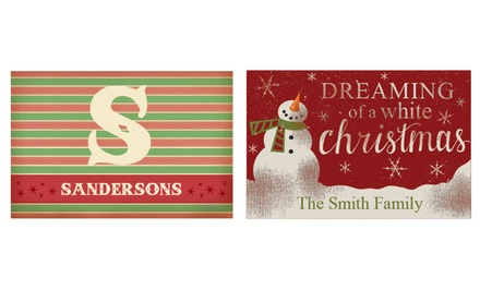 One or Two Personalized Doormats from Personalized Planet (Up to 50% Off)