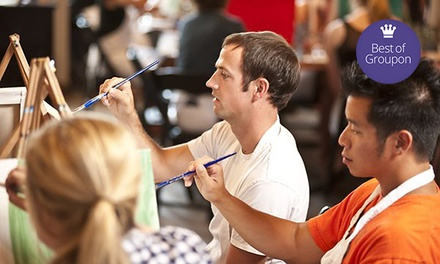 Painting Class for One or Two with Drinks at Sipping n' Painting Highland (Up to 48% Off)