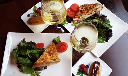 Cafe Sandwich Meal or Quiche Meal for Two with Wine, Salad, and Pastries at Margot Patisserie (Up to 53% Off)