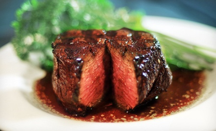 $60 for a Two-Course Steak-House Meal for Two with Drinks at Marie Livingston&#x27;s Steakhouse (Up to $90.96 Value)