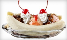 Ice Cream, Sundaes, and Shakes at Super Scoop Ice Cream Parlor (Half Off). Three Options Available.