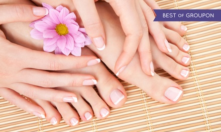 Manicures and Pedicures at Pamper Nails (46% Off). Four Options Available.