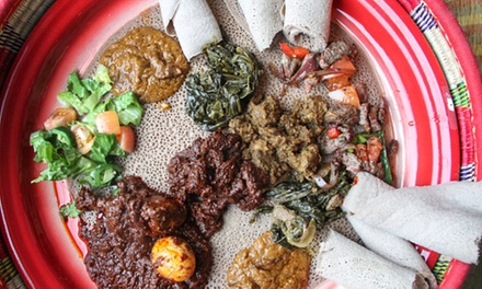 Ethiopian Food at Habesha Restaurant & Bar (Up to 47% Off). Three Options Available.