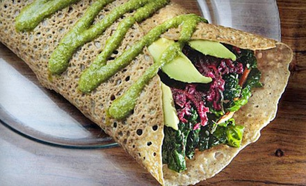 Organic Vegetarian Cuisine at The Sunflower Center (Up to 54% Off). Two Options Available.