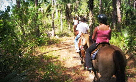 $55 for a 60-Minute Outback Journey Trail Ride for Two from 5 Star Stables & Tack (Up to $110 Value)