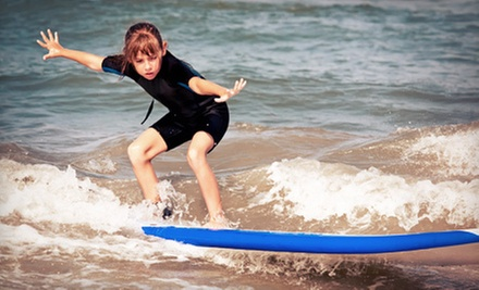 Hour-Long Surf Lesson for One or Two or 1.5-Hour Lesson for Four at Santa Barbara Seals Surf School (Up to 61% Off)