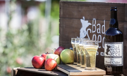 Three Hard Cider Tastings and Tour of Cidery for Two or Four at Bad Seed Cider Co (Up to 50% Off)