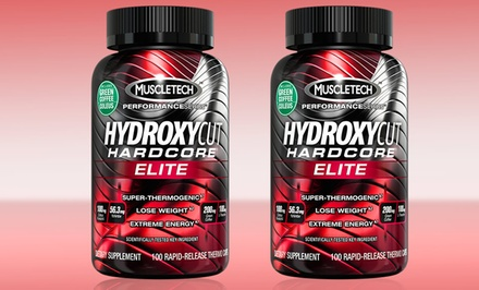 2 Bottles of Hydroxycut Hardcore Elite Series, 100 Capsules Each (Buy One, Get One Free)