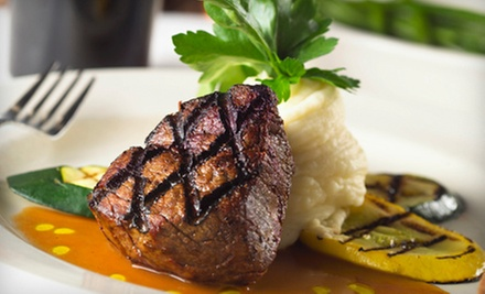 Gourmet Steak and Seafood Dinner at Sheepherder Bar &amp; Grille (Half Off). Two Options Available.