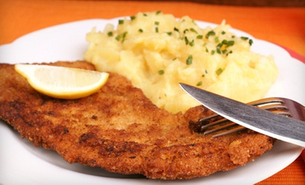 $10 for $20 Worth of German Food for Dinner at Jaegerhaus