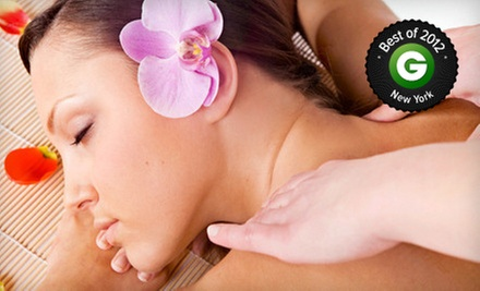 50-Minute Facial, 50-Minute Massage, or Both with Foot Massager and Apple Juice at Bliss & Care (Up to 68% Off)