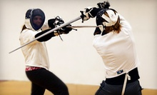 One-Month Medieval Combat Fencing Class for One or Two at Minnesota Sword Club (Up to 56% Off)