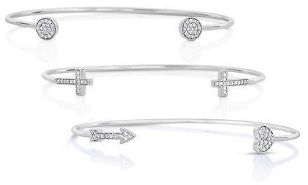 1/10 CTTW Diamond Open Ended Bangle