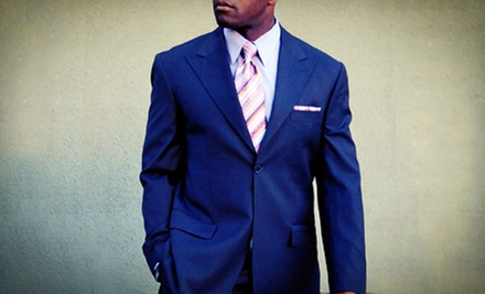 Men's Custom-Wardrobe and Formalwear Packages with a Tux or One or Two Suits at Moda Italia (Up to 75% Off)