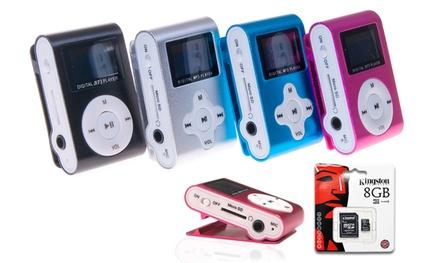 Mini mp3 com rádio FM e ecrã LCD por 8,95 € ou com cartão microSD de 8 GB por 12,95 € com envio gratuito