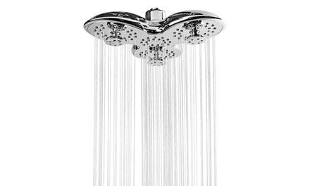 "A-Flow Luxury 8"" Showerhead with 3 Multi-Directional Massaging Jets"