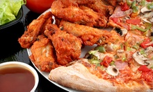 One Extra-Large One Topping Pizza, 10 Wings, and a Large House Salad at St. Louis Pizza and Wings ($31.97 Value)