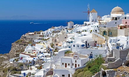 Groupon Deal: ✈ 9-Day Greek Islands Vacation with Airfare from go-today. Price per Person Based on Double Occupancy.